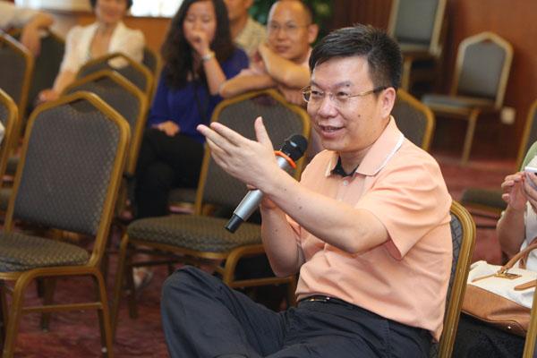 中国红十字会宣传部部长姚立新出席苏秦大讲堂
